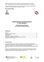 Adressenliste für Ansprechpartner im Öko-Obstbau - Oekolandbau.de