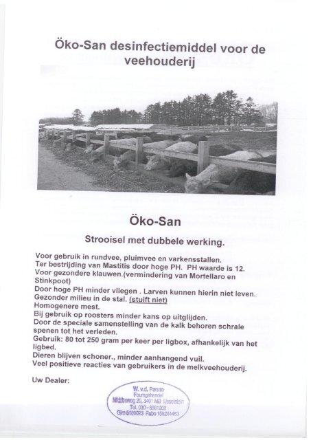 Oko-San flyer - W. vd Panne Handel & Transport