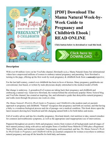 [PDF] Download The Mama Natural Week-by-Week Guide to Pregnancy and Childbirth Ebook  READ ONLINE