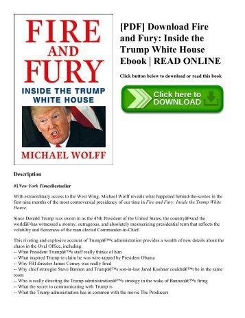 [PDF] Download Fire and Fury Inside the Trump White House Ebook  READ ONLINE