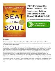 [PDF] Download The Seat of the Soul 25th Anniversary Edition with a Study Guide Ebook  READ ONLINE