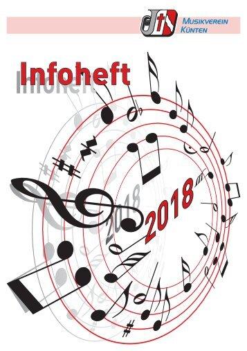 Musikverein Infoheft 2018