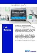 A Guide to Building Links Like a PRO!  - Page 2