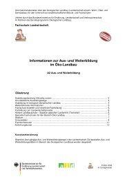 und Weiterbildung im Öko-Landbau - Oekolandbau.de