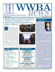 WWBA April 2018 Newsletter