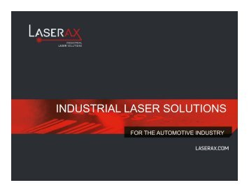 Laserax Industrial Laser Solution for the Automotive industry