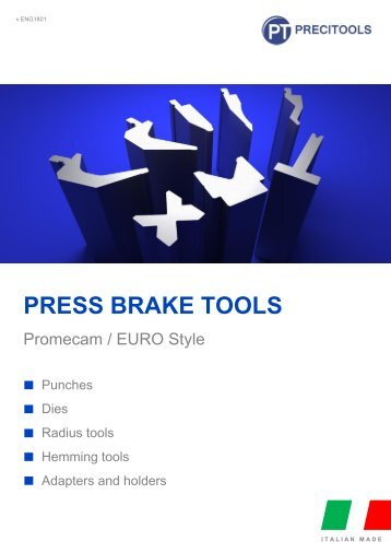Precitools press brake tools  for Promecam (EURO) system