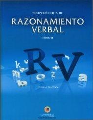 Razonamiento Verbal - II - Lumbreras