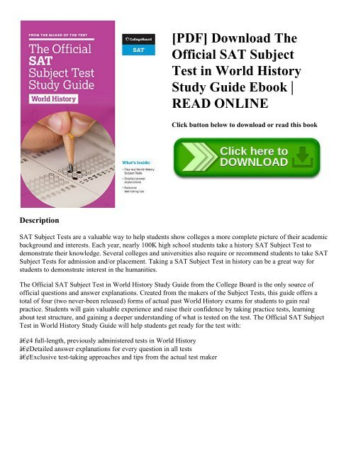 PDF] Download The Official SAT Subject Test in World History