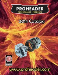 ProHeader Performance Products, Parts And heads
