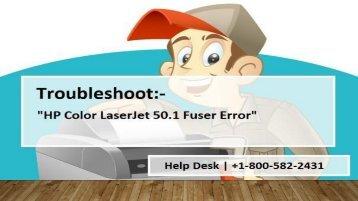 1800-597-052 Fix HP Color LaserJet 50.1 Fuser Error