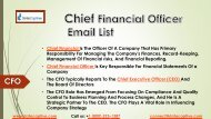 CMO Email List | CMO Email Database | Chief Marketing Officer Email
