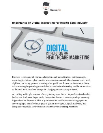 Digital Marketing Ideas for Healthcare Industry