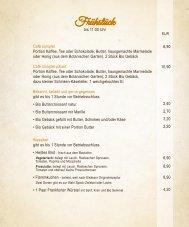 Cafe Orchideé Karte