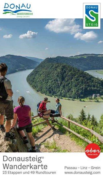 Donausteig Wanderkarte 2018