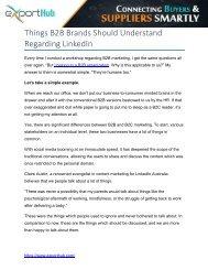 Things B2B Brands Should Understand Regarding LinkedIn