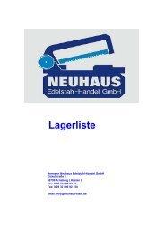 Lagerliste Katalog - neuhaus-stahl.de