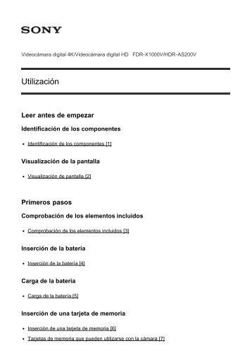 Sony FDR-X1000VR - FDR-X1000VR Manuel d'aide Espagnol