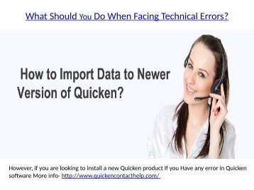 Quicken for Windows Products