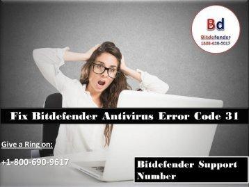 Fix Bitdefender Antivirus Error Code 31