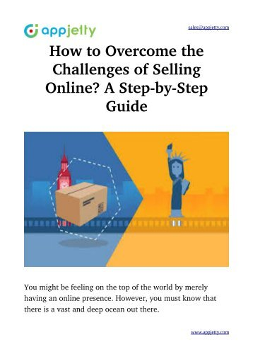How to Overcome the Challenges of Selling Online? A Step-by-Step Guide