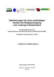 Optimierungen für einen nachhaltigen Ausbau der ... - Biogaspartner