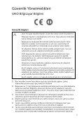 Sony SVE1512Z1E - SVE1512Z1E Documents de garantie Turc - Page 5