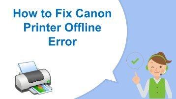 How to Remove Canon Printer Offline Error