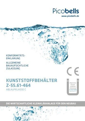Zulassung Kunststoffbehälter