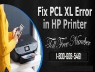1-800-608-5461 How To Fix HP Printer PCL XL Error? Simple Ways