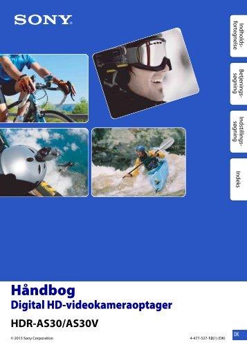 Sony HDR-AS30VR - HDR-AS30VR Guide pratique Danois