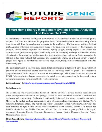 World Home Energy Management Systems Market  Opportunities and Forecasts, 2017-2025