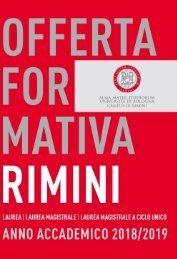 Offerta formativa A.A. 2018/2019   Campus di Rimini