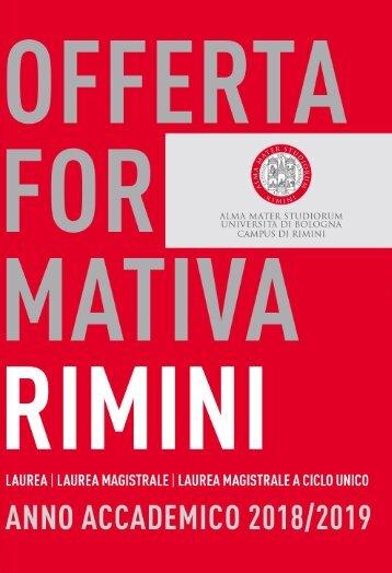 Offerta formativa A.A. 2018/2019 | Campus di Rimini