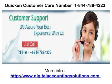 Quicken Customer Care Number  1-844-788-4223