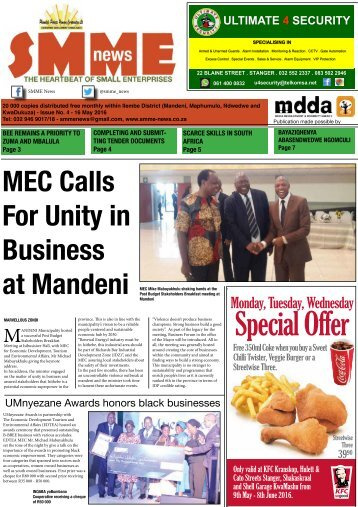 SMME NEWS - MAY 2016 ISSUE