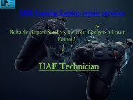 Dial +971-523252808 to get MSI Gaming Laptop repair services all over Dubai
