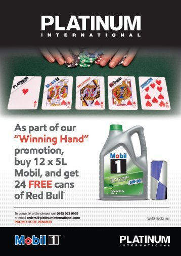 KD 01037 Mobil Red Bull Promotion Flyers