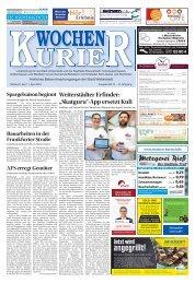 Wochen-Kurier 15/2018 - Lokalzeitung für Weiterstadt und Büttelborn
