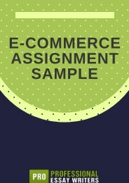 E-Commerce Assignment Sample