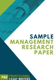 Sample of Management Research Paper