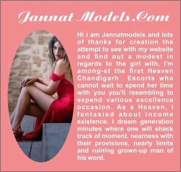 Chandigarh Escorts-Elite with Jannat Independent Chandigarh Call Girls