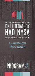Dni Literatury nad Nysą 2018 – program