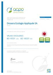 Certifications Drosera