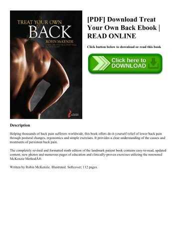 [PDF] Download Treat Your Own Back Ebook  READ ONLINE