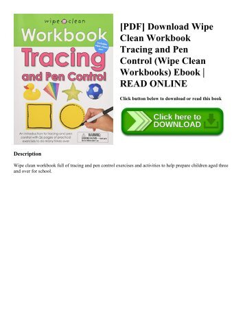 [PDF] Download Wipe Clean Workbook Tracing and Pen Control (Wipe Clean Workbooks) Ebook  READ ONLINE