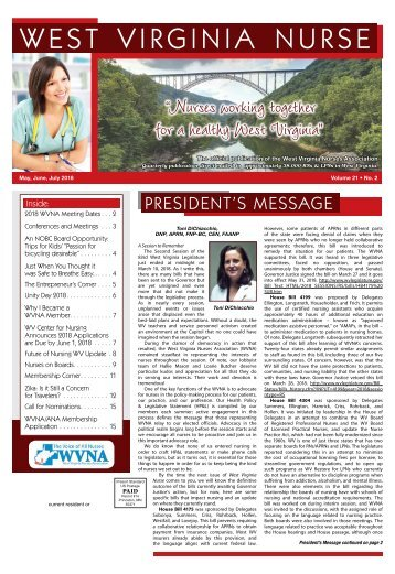 West Virginia Nurse - May 2018