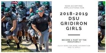 2018 DSU Gridiron Girl Application