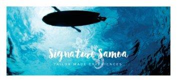 Signature Samoa Booklet