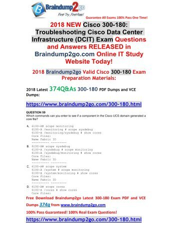 (2018-April-Version)New 300-180 Dumps PDF 334Q Free Share(59-69)